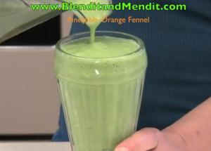 Green Avocado and Fruit Smoothie
