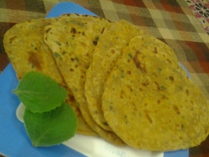 Carrot and Carom Paratha