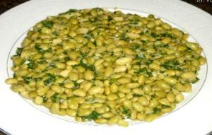 Edamame Beans with Cilantro and Garlic