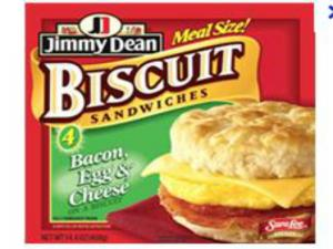 Deep Fried Jimmy Dean Bacon, Egg and Cheese Biscuit