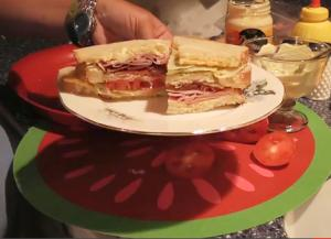 Club Sandwich With Secret Sauce
