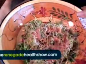 Raspberry Vinaigrette Sprout Salad