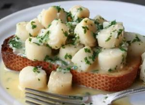 Scallops in Garlic Parsley Sauce