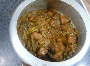 Cluster Beans Curry with Potatoes