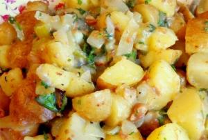 Parsley Anchovy Potato Salad