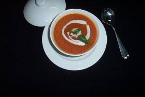 MINTY PEPPERY TOMATO SOUP