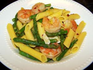 Penne with Shrimp and Asparagus
