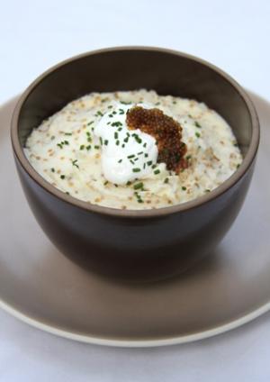 Mashed Potatoes with Truffle Infused Whitefish Roe