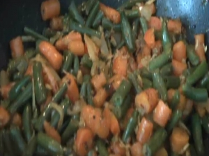 Carrots Beans Poriyal / Indian Vegetarian
