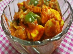 Kadahi Paneer - Green Bell Pepper and Cotage Cheese Gravy