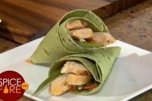 Coriander Crusted Chicken Wrap