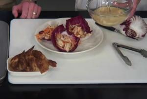 No Mayo Chicken Salad in a Radicchio Cup