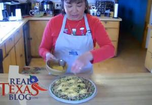 Black Eyed Peas with Jalapenos Pie - Part 4 - Baking