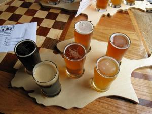 An assortment of various types of American Beer.