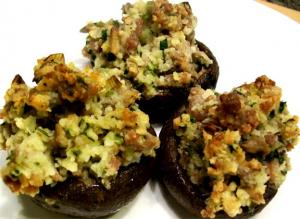 Famous Sausage Stuffed Mushrooms