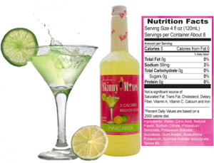 Low calorie margarita cocktails
