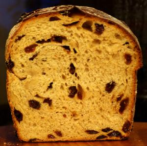 Cornmeal Raisin Bread