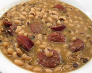 Barbecued Black Eyed Beans
