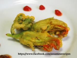 Assamese Batter fried Pumpkin flowers