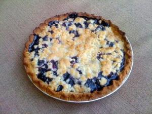 Blueberry-Sour Cream Pie