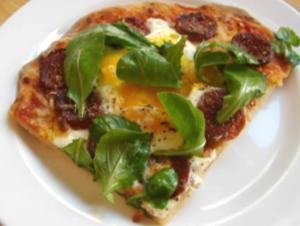 Breakfast Egg And Sausage Pizza