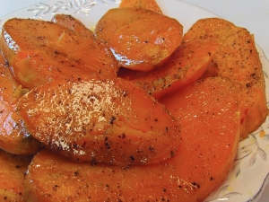 Betty's Roasted Sweet Potato Planks -- Christmas