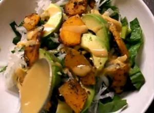 #1004 Pumpkin + Spinach Salad