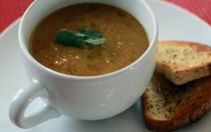 Vegan Curried Split Pea Soup