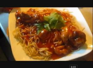 Latino Style Spaghetti with Chicken