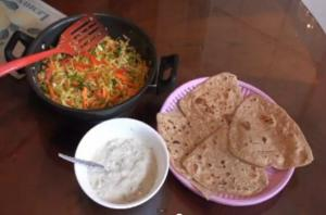 Menu Ideas - Sambharo, Roti, & Raita
