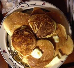 Raised Cornmeal Griddle Cakes