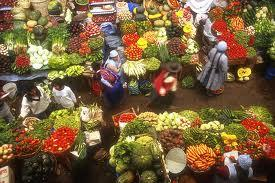 Colourful market of Bolivia