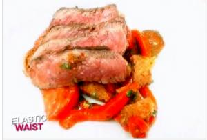 Rustic Romesco with Pan-Roasted Sirloin