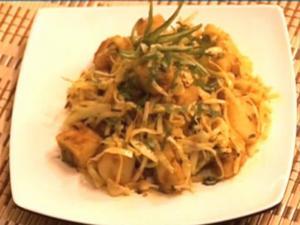 Aloo Patta Gobi- {Potato & Cabbage}