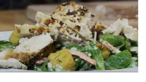 Succulent Italian Chicken over Greens