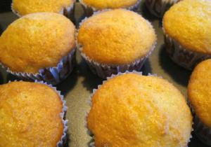Soft Yellow Cupcakes
