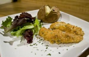 Baked Parmesan Chicken Tenders with Baked Potatoes