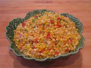 Herbed Tomato Corn And Pepper Saute