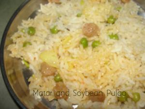 Matar And Soybean Pulao
