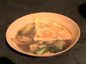 Zuza zak's Weeknight Dinners: Noodle Soup with Vegetables and Omelette