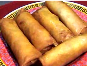 Chinese Eggrolls With Meat And Vegetables