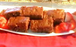 Healthy Organic Zucchini And Nut Brownies