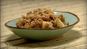 Microwave Cooked Apple Crisp
