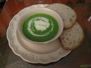 Minted Green Pea Soup