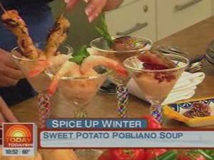 Sweet Potato Poblano Soup by Chef Lala