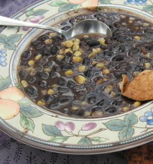 SOUP-ER EASY BLACK BEAN AND CORN SOUP