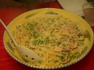 Vermicelli with Peas & Pancetta, Page 143 of Rosalie Serving Italian