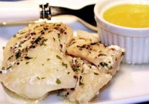 Halibut With Lemon Egg Sauce