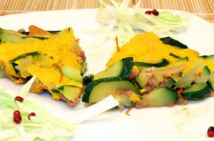 Tortang Zucchini with Minced Beef