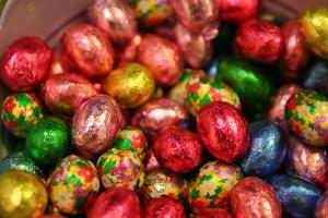 Home-made Easter chocolate candies